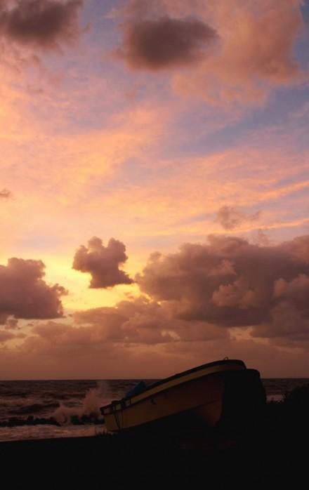 雁子浜 の夕刻
