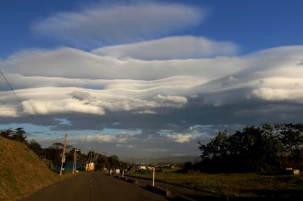 長崎方面の雲
