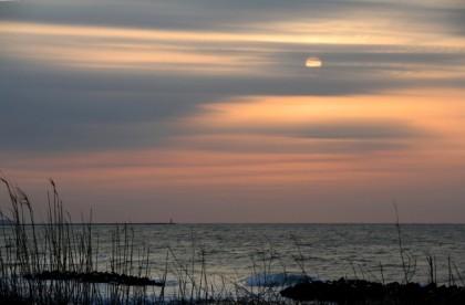 鵜の浜温泉の夕陽