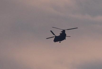 1ヘリコップターが一機