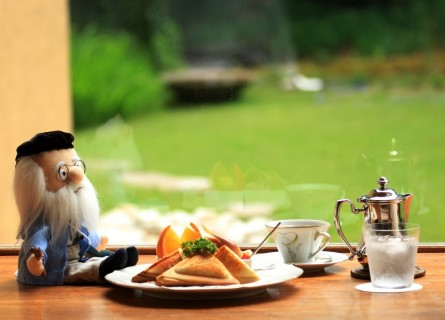 カフェで昼食