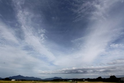 くびき野の田と雲
