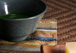 二代陶齋の茶碗で