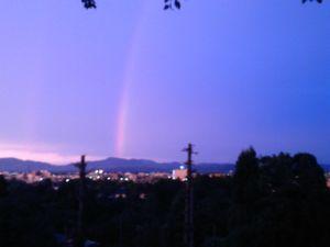 夕焼けの虹