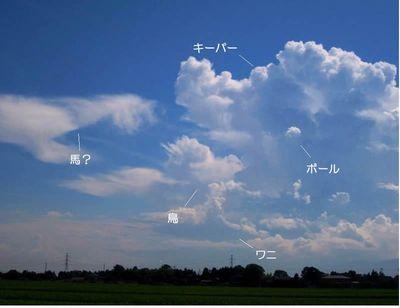 雲のサッカー