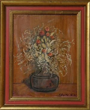 私のバラのドライフラワーの絵