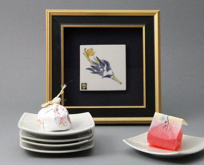 尚明さんの作品とお菓子