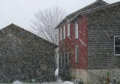 赤い壁の家