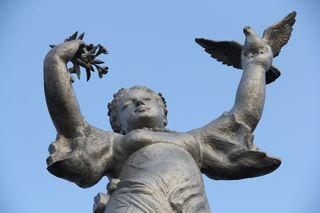 彫像の上部