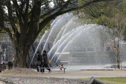 4園内の噴水