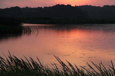 鵜之池の夕暮れ