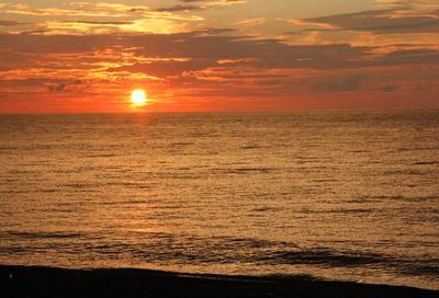 上下浜の夕陽