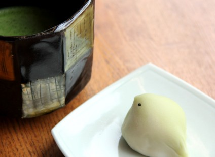 抹茶とお菓子
