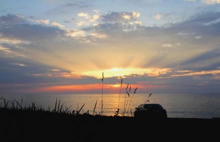 上下浜の夕暮れ