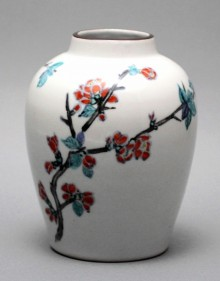 色絵木瓜文花瓶