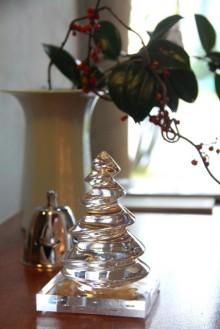 クリスタルガラスのツリー