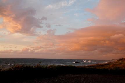 四ツ屋浜の夕刻