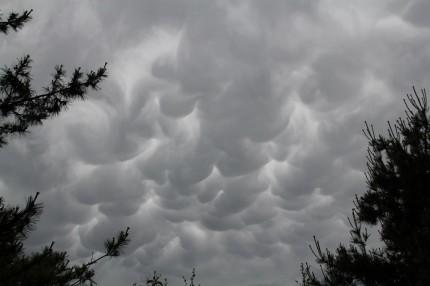 2012年6月19日台風4号前の乳房雲