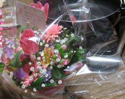花とすき焼き