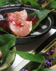 デザート/鉄釉小皿
