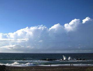 今日の雁子浜