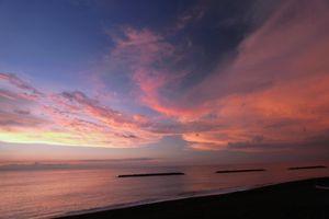 鵜野浜の夕焼け