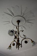天井模様と灯り