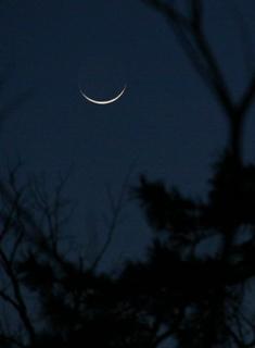 きょうの月