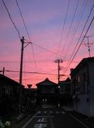 潟町の夕焼け