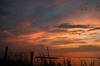 今日の鵜の浜温泉の夕焼け