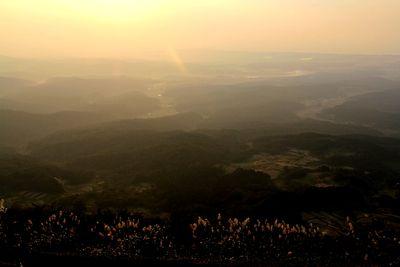 尾神岳の夕暮れ