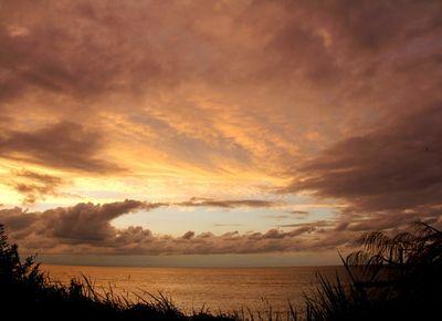 鵜の浜の夕焼け