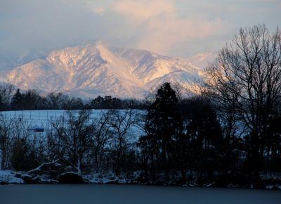 夕映えの米山